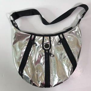 Kipling HB4787 Metallic Silver Handbag w/ Zippers